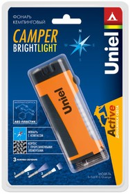 Фонарь UNIEL S-TL018-C Camper-Bright Light ORANGE